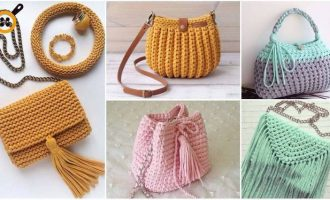 Как связать красивую сумку своими руками спицами или крючком: 4 мастер-класса